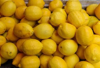 Fototapeta Full Frame Shot Of Lemons In Market