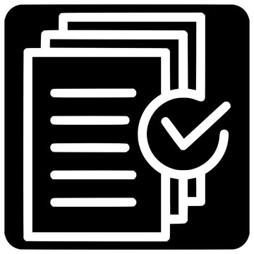 document approved request icon outline style vector Document, Request, Icon, Outline, Form, Certificate, Manual, Black, Project, Plan, Homework, Course