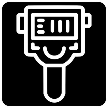 detection thermal imager icon outline style vector Outline, Black, Icon, Thermal, Detection, Technology, Vector, Isolated, Test, Temperature, Thin, Efficiency