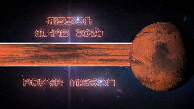 mission mars 2020 3d illustration