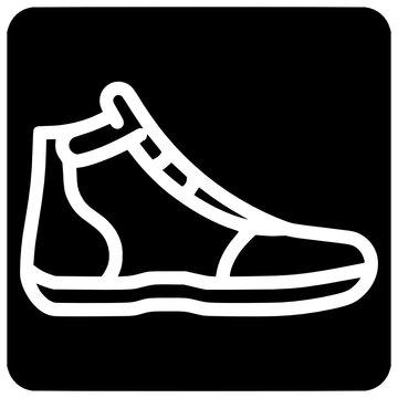 greco roman wrestling shoe icon outline style vector Outline, Black, Wrestler, Greco, Roman, Icon, Wrestling, Shoe, Roman, Sport, Vector, Design