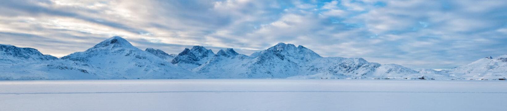 Artic winter scene - banner background image