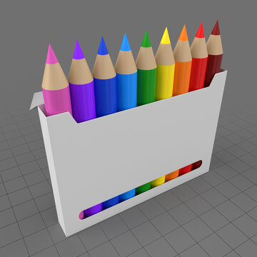 Colored pencil box with display window 3