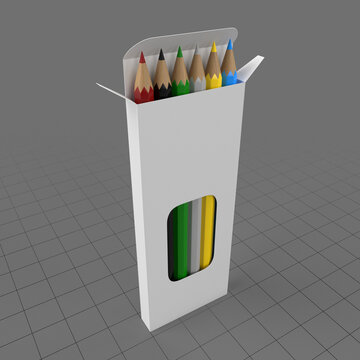 Colored pencil box with display window 2