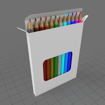 Colored pencil box with display window 1