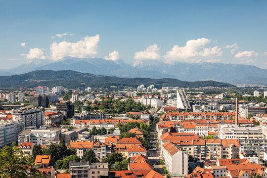Slovenia, Ljubljana, View of city