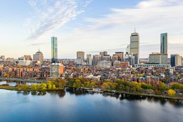 Fototapeta Back Bay Boston at Sunset