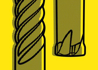 Fototapeta Ilustracja frezów płaskich do obróbki skrawaniem CNC materiałów hartowanych.