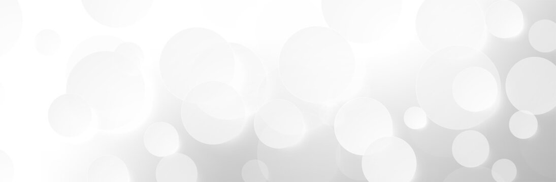 Abstract Gray White background. 3d Sphere pattern. Glowing Circles. Round shapes. Neutral calm vector illustration