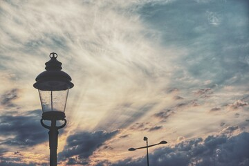 Low Angle View Of Street Light Against Sky Fotomurales
