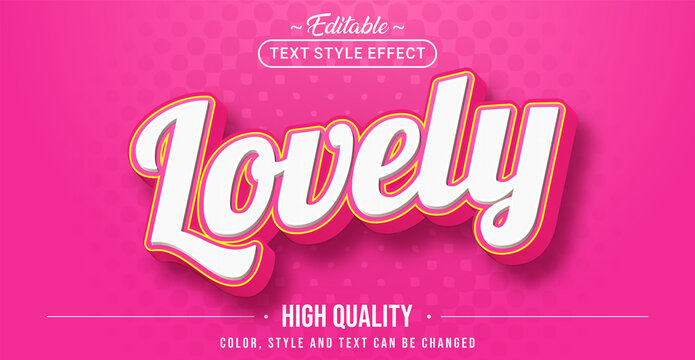 Editable text style effect - Lovely text style theme.