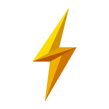 Thunder, electric power logo design element. Energy and thunder electricity symbol concept. Lightning bolt sign in the circle. Flash emblem template. Vector illustration.