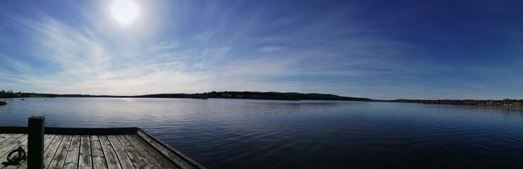 Obraz Scenic View Of Lake Against Sky - fototapety do salonu