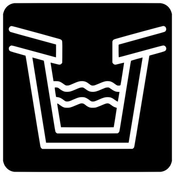 trough gutter icon outline style vector Outline, Black, Water, Ditch, Gutter, Icon, Trough, Technology, Isolated, Vector, Casing, Duct
