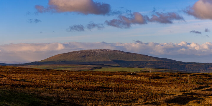 Knocklayd mountain, Ballycastle, from Torr Head, Causeway coast and glens, County Antrim, Northern Ireland