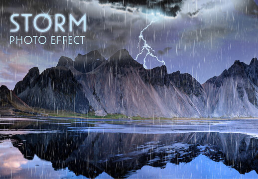 Storm Photo Effect Layout