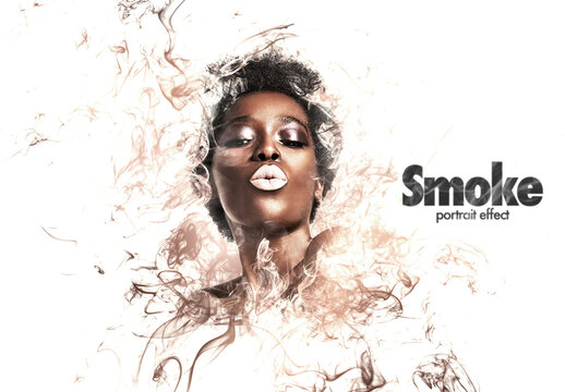 Smoke Portrait Effect Mockup