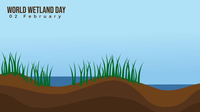Wetland vector illustration