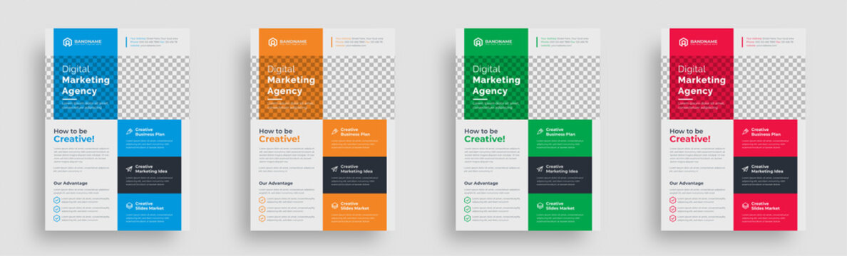 flyer. creative corporate multipurpose trendy unique business marketing flyer magazine leaflet design with abstract geometric shape advertising print template design