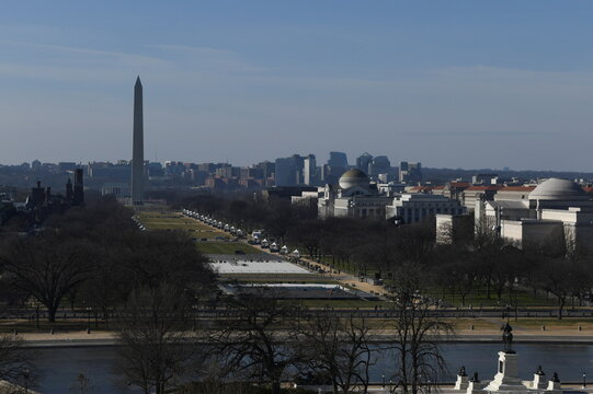 A general view of the Washington Monument in Washington