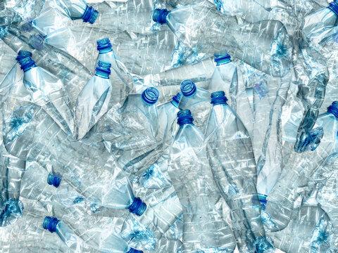 Full Frame Shot Of Plastic Bottles