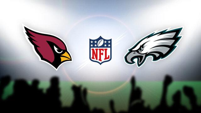 NFL Arizona Cardinals vs Philadelphia Eagles vector illustration.