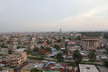 Obraz High Angle View Of Townscape Against Sky During Sunset - fototapety do salonu