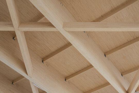 Full Frame Shot Of Wooden Ceiling