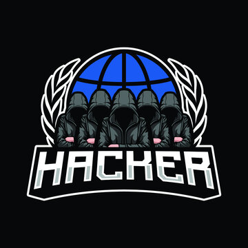 Hacker mascot logo design illustration