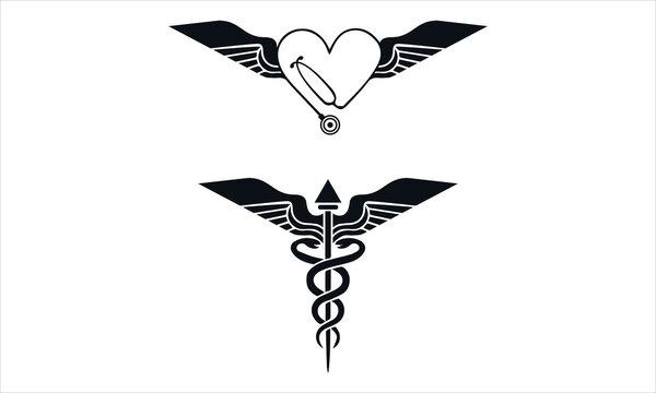 Exclusive Caduceus medical symbol vector