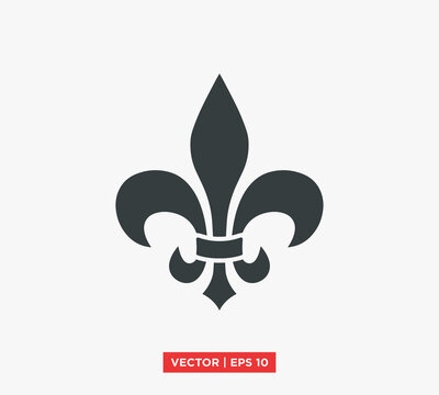 Fleur De Lis Heraldic Symbol Icon Vector Illustration Design Editable Resizable EPS 10
