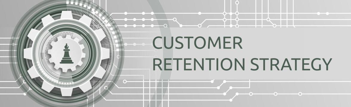 Customer Retention Strategy. Banner mit Icons. Acquisition, Onboarding & Activation, Monetization, Renewal & Retention.