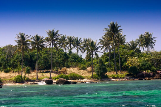 Natural beach on the island of Phu Quoc, Vietnam, Asia