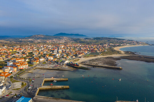 Aerial view of Aguiño in A Coruña
