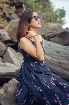 "Beach photoshoot with a beautiful balines girl on the beach ""Pantai bias lantang, Bali""."