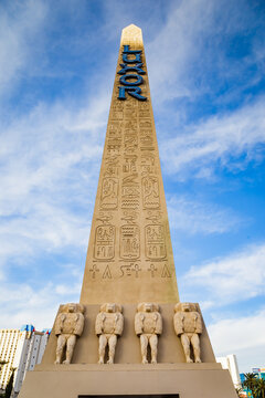 Egyptian obelisk of the Luxor Las Vegas resort hotel