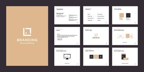 Obraz Minimalist luxury brand guide template - fototapety do salonu