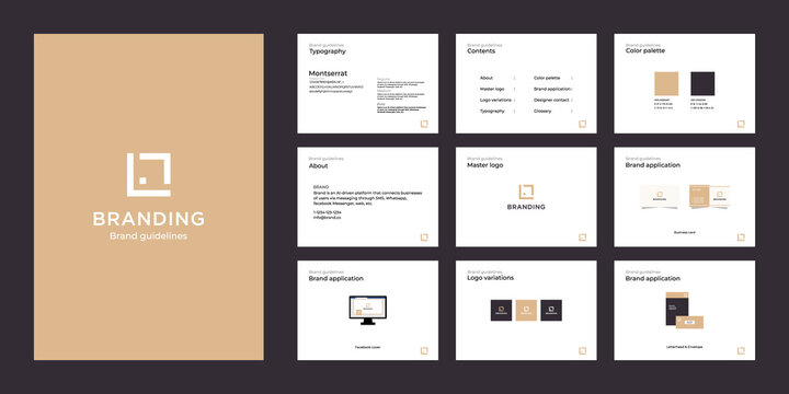 Minimalist luxury brand guide template
