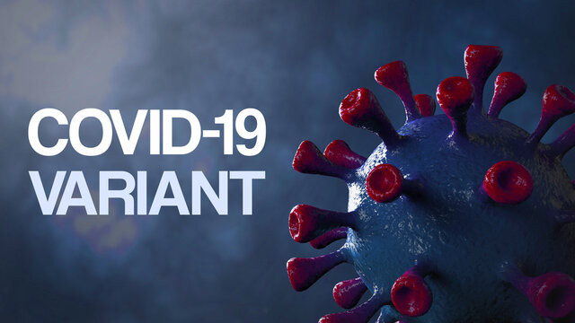 Covid british and england variant, covid-19 virus with english flag