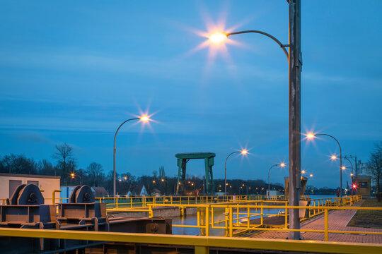 Schleuse am Wesel-datteln-Kanal in Dorsten