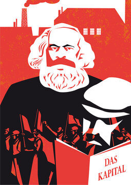 Karl Marx vector illustration