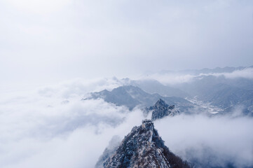 Obraz Scenic View Of Snowcapped Mountains Against Sky - fototapety do salonu
