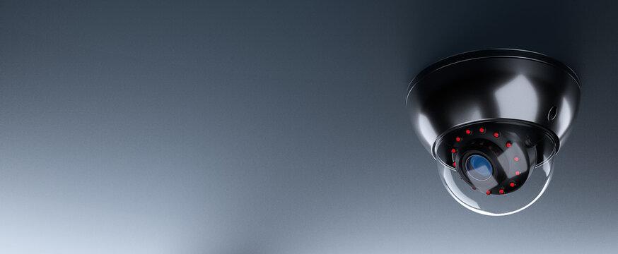Security CCTV camera or Surveillance System. 3D Render