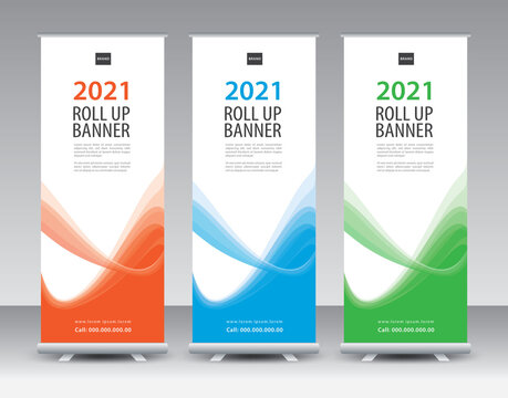 Business Roll Up, Roll Up Banner template, Sale banner stand or flag design layout, Standee Design, Presentation, Corporate roll up banner, poster, flyer, Modern Exhibition Advertising vector