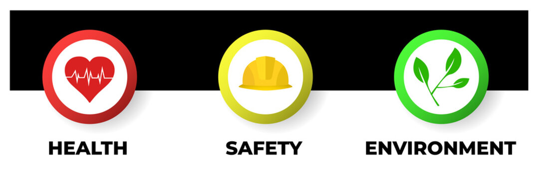 Health Safety Environment (HSE) acronym concept. Vector illustration