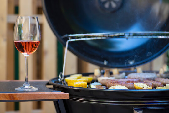 rose wine and garden grill
