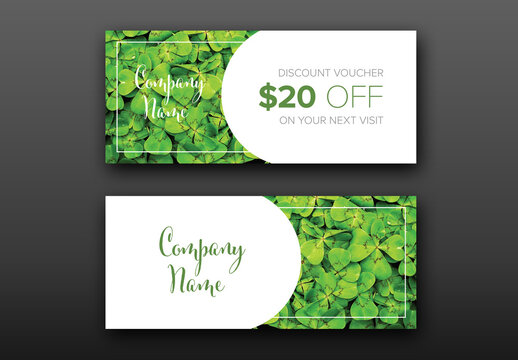 Discount Voucher Card Layout with Photo