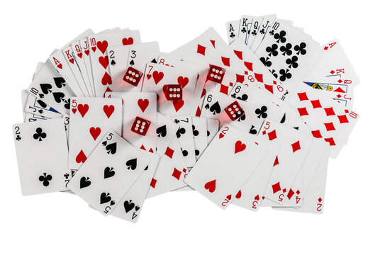 Playing Cards Poker Size. Suits Sign Heart Club Diamond Spade.