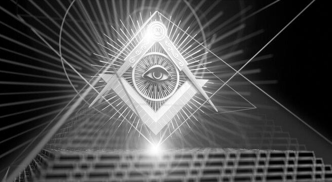Masonic Sign and Pyramid