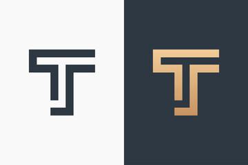 Obraz Letter T Logo Design Vector Illustration Design Editable Resizable EPS 10 - fototapety do salonu